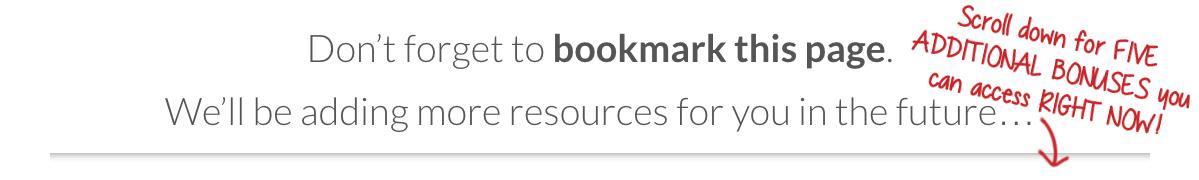 resource page handwriting